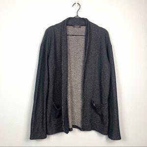 Zara Men's Long Sleeve Knit Cardigan Sweater Blue